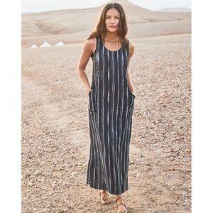 Garnet Hill Linen tank maxi dress